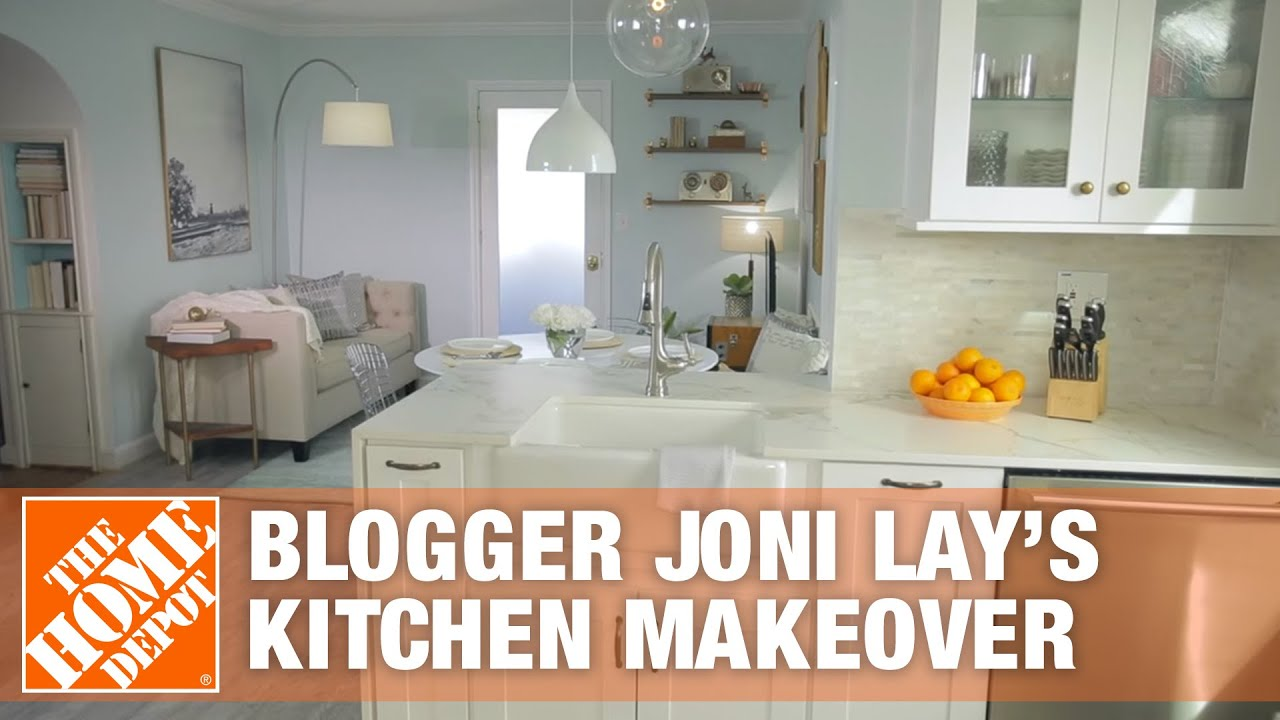 Blogger Joni Lay S Kitchen Makeover The Home Depot Youtube