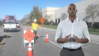 Traffic control plans in Southern California -- A Cone Zone Traffic Control