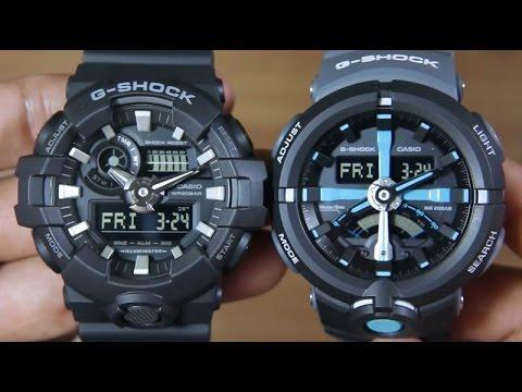 40a0cfc29d1 CASIO G-SHOCK GA-700-1B VS G-SHOCK GA-500P-1A