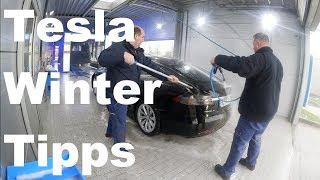 Tesla im Winter Tipps für den Winterbetrieb Model S und X