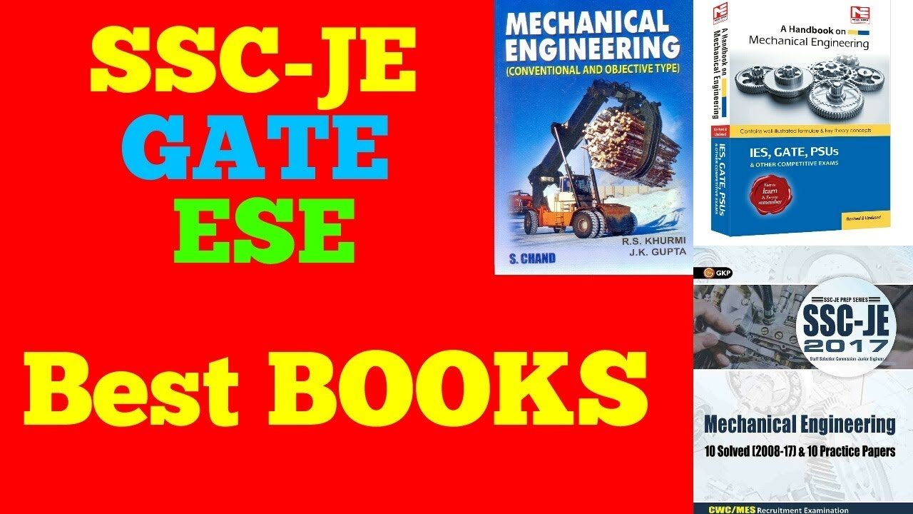 Best Books for SSC-JE MECHANICAL   BEST Books for JE/GATE/ESE MECHANICAL  ENGINEERING   IN HINDI