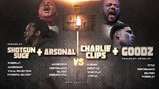 CHARLIE CLIPS + GOODZ VS ARSONAL + SHOTGUN SUGE SMACK/ URL RAP BATTLE ...