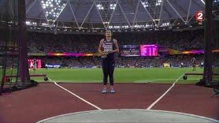 VIDEO. Mondiaux d'athlétisme : Le lancer en bronze de Melina Robert-Michon