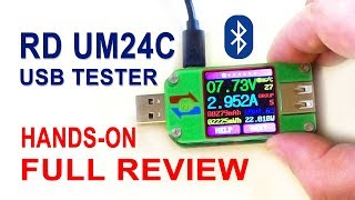 RD UM24C Bluetooth USB tester and USB load review