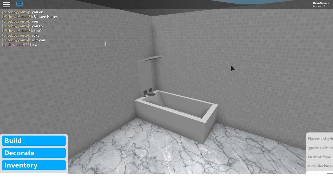 Bath/Shower in Bloxburg   GrimGamez - YouTube