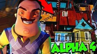 Hello Neighbor ALPHA 4 - NEW CUTSCENE! SECRET ELEVATOR & HUGE NEW HOUSE! (Alpha 4 GAMEPLAY)