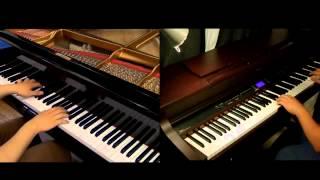 Repeat youtube video Jiyuu no Tsubasa - Shingeki no Kyojin OP2 [piano Duet with Tehishter]