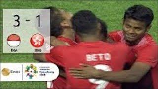REVIEW Sempat Tertinggal, Indonesia vs Hongkong (3-1) Football Asian Games 2018, Gimana Palestina?