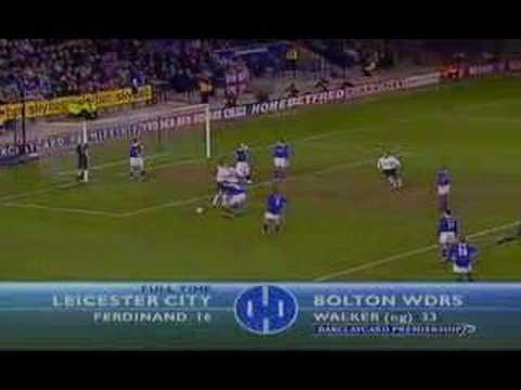Leicester vs Bolton (1-1 Ian Walker Own Goal)