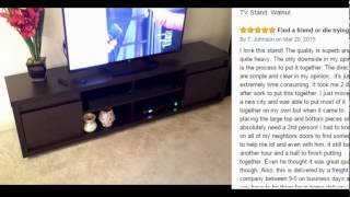 Great, Furniture of America Kirry Multi-Storage TV Stand, Walnut