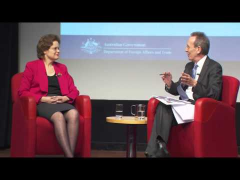 H.E. Ms Frances Adamson, Australian Ambassador to China in conversation with the ABC's Jim Middleton