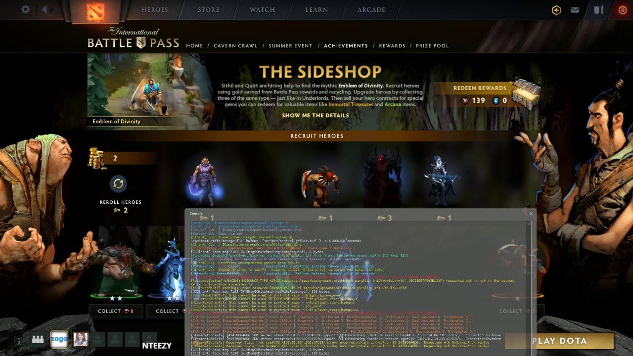 Dota 2 Side Shop Battle Pass