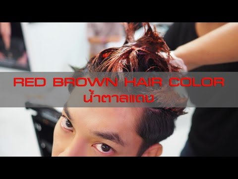 Red Brown Hair Color สีผมน้ำตาลแดง
