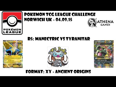 Pokémon TCG League Challenge: FINAL: Manectric vs Tyranitar (Ancient Origins Legal!)
