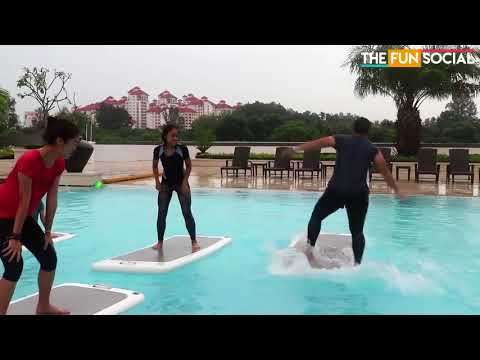 Fun Social try FloatFit at PARKROYAL On Beach Road | Singapore | AquaPhysical
