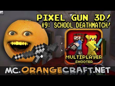 Annoying Orange Plays - Pixel GUN 3D #9: School Deathmatch!