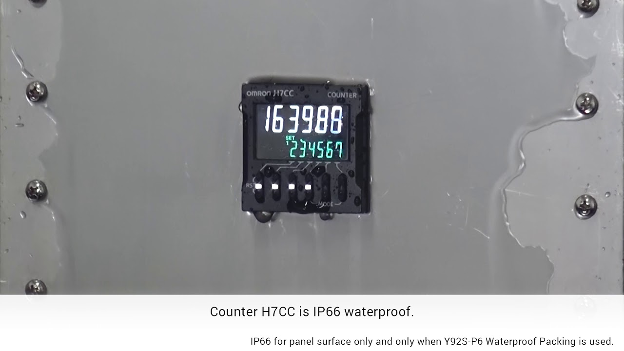 OMRON H7CC IP66 Waterproof Test