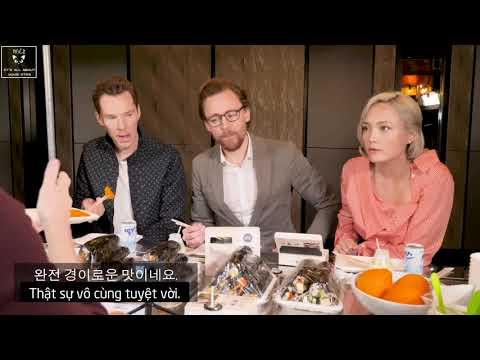 [VIETSUB] TOM HIDDLESTON, BENEDICT CUMBERBATCH, TOM HOLLAND VÀ POM KLEMENTIEFF Ở KOREA