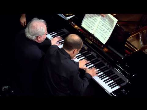 Emanuel Ax, Anna Polonsky, and Orion Weiss play Brahms and Schumann