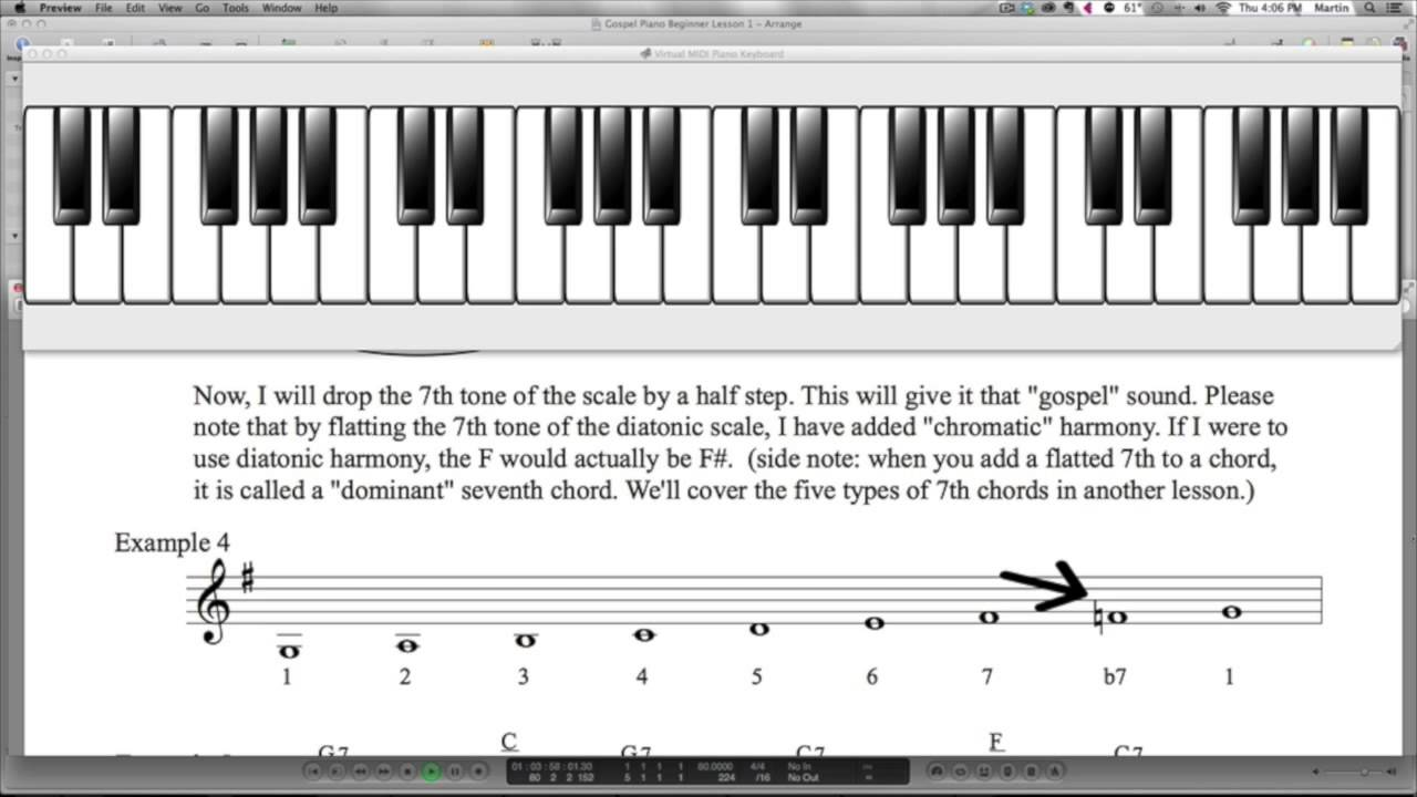 Gospel Piano - Beginner - Lesson 1
