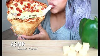 Asmr Special Reveal Giant Pizza Cone Crunchy Eating Sounds No Talking