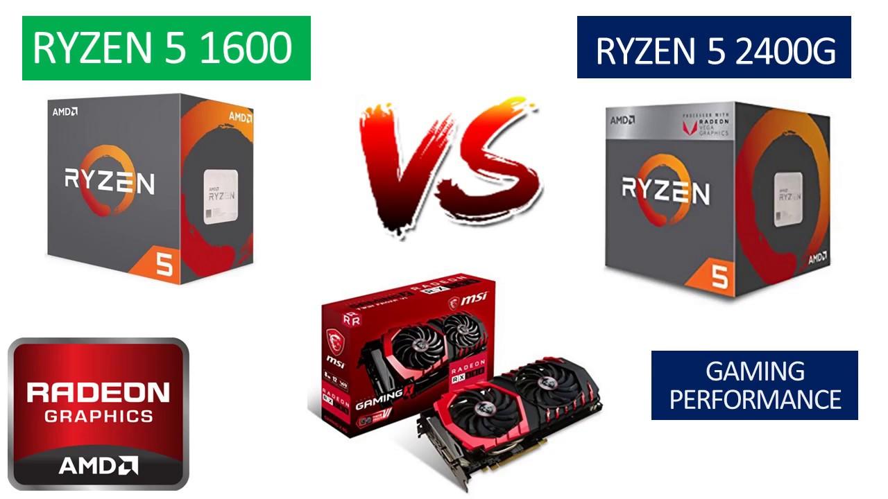 Ryzen 5 1600 vs Ryzen 5 2400G - RX 580 8GB - Benchmarks Comparison