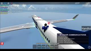 Roblox Ryanair Flight As A Cadet.