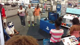 Sony Playstation VR Demo at Best Buy and GameStop in Atlanta, Georgia.