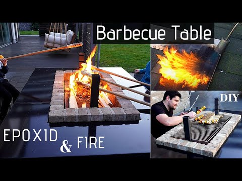 Epoxy Barbecue Table🔥/Grill