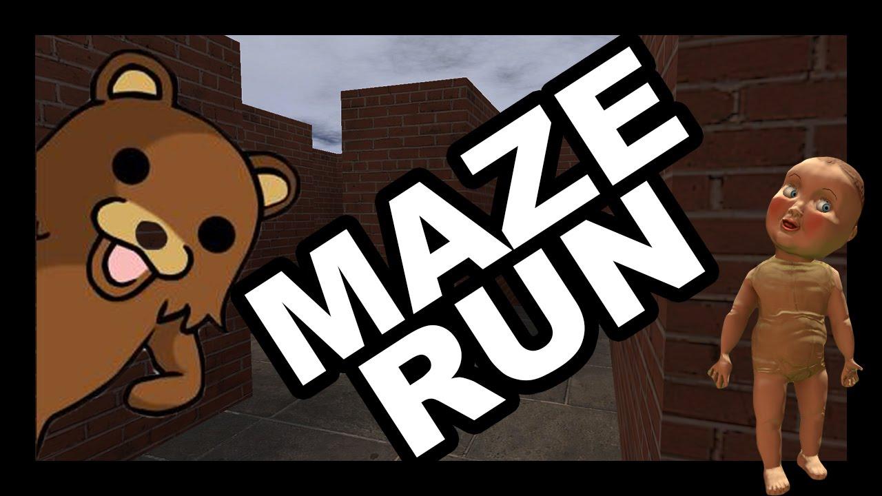 CREEPY BABY/PEDOBEAR MAZE RUN!!! | Gmod Minigame