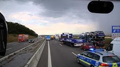 D: Rescue mission on German Autobahn A6 after serious crash. July 2015