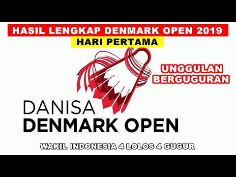 HASIL LENGKAP PERTANDINGAN HARI PERTAMA DANISA DENMARK OPEN 2019