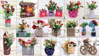15 Flower Pot.... Best Out of Waste !!! Quick Room Decor