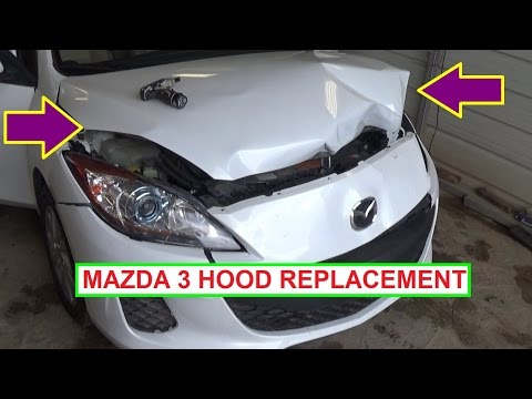 How to Remove or Replace the Hood on Mazda 3 in 1 MINUTE 2010 2011 2012 2013