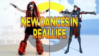 Overwatch - every NEW 2018 DANCE emote in reallife - with music