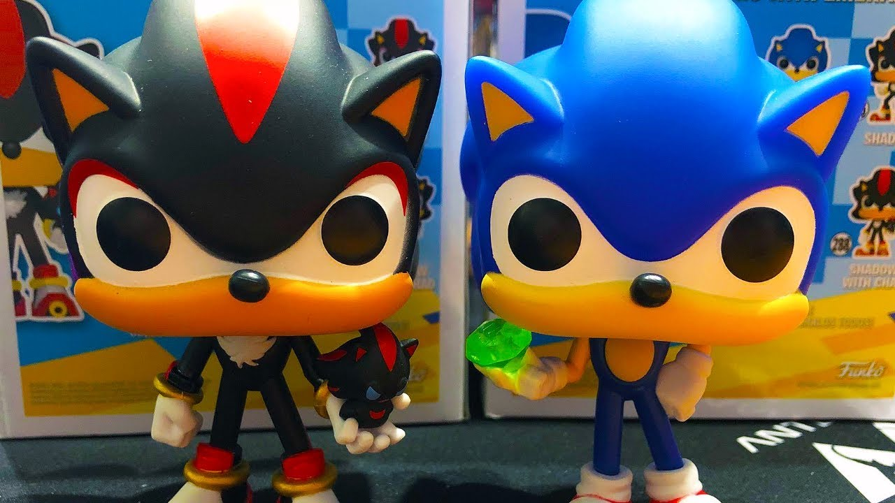 Funko Pop Games Sonic The Hedgehog And Shadow With Chao Figure Unboxing Youtube
