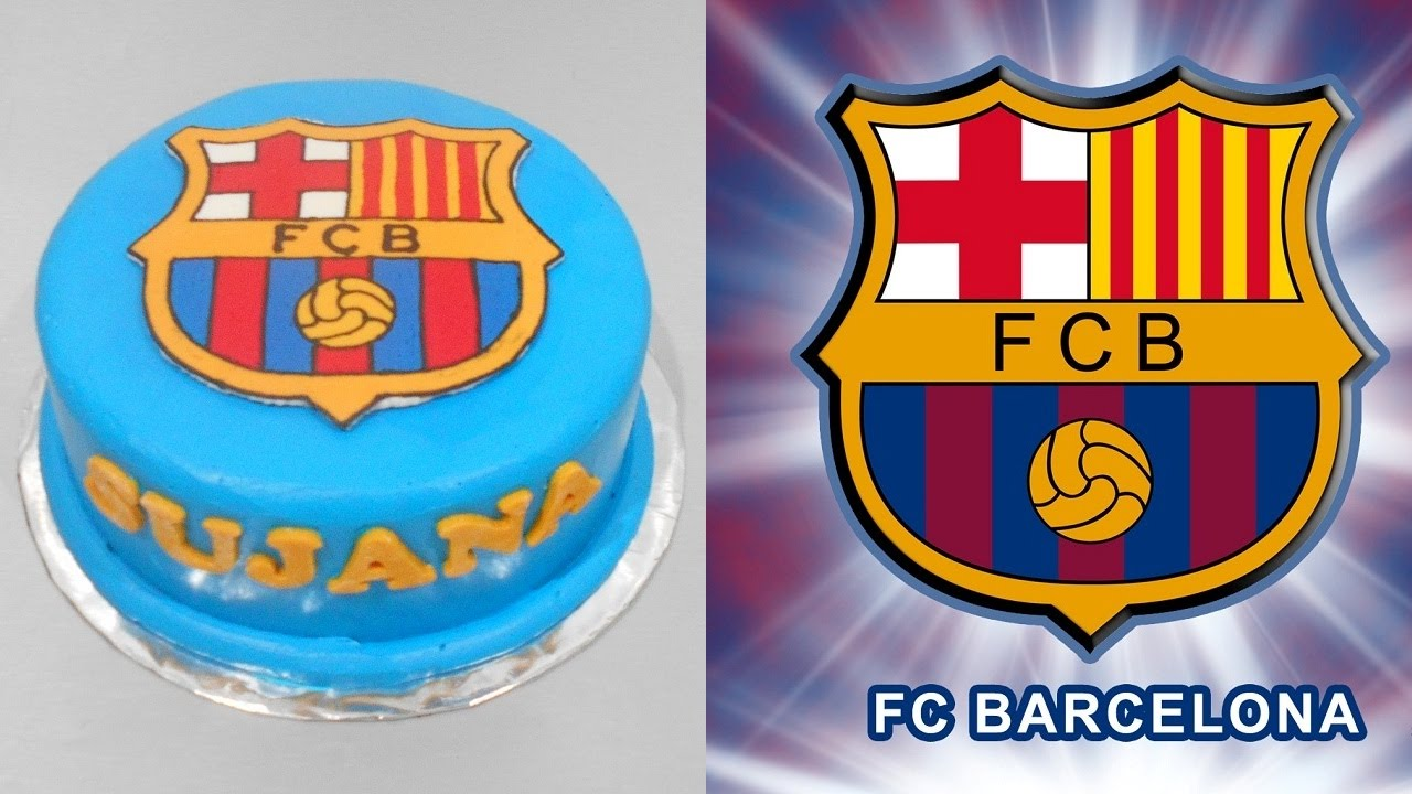 Fc Barcelona Cake Decoration Simple Youtube