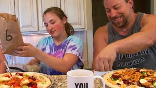 Pizza Challenge By Girls and Dad - Our Family Fun