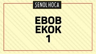 Tyt Ebob Ekok 1 Şenol Hoca Matematik
