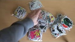 500 PCS Sticker bombing sticker pack Unboxing Cool Stickers