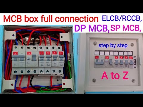 How to MCB Box connection ।। distribution MCB box connection ।। ELCB/RCCB, DP/SP MCB connection