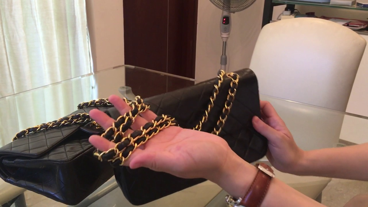d56828e06bb065 CHANEL CLASSIC FLAP BAG: 9 & 10 Inch Double Flaps - YouTube
