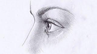 Как рисовать ГЛАЗ ЧЕЛОВЕКА В ПРОФИЛЬ. Урок 58(Изучим, как рисовать глаз человека в профиль карандашом., 2015-03-22T18:16:45.000Z)