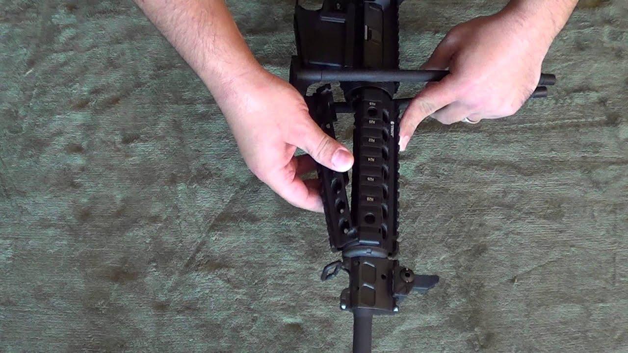 Installing a Troy Quad Rail & Vertical Grip on an AR-15 - YouTube