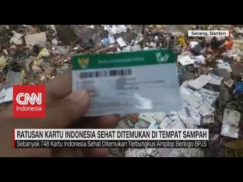 Ratusan Kartu Indonesia Sehat Ditemukan di Tempat Sampah