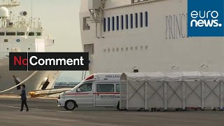 Coronavirus: Cruise ship Diamond Princess locked down at Yokohama Habour