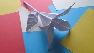 ЦВЕТОК ЛИЛИЯ. Оригами Своими Руками из Бумаги для Начинающих. Видео(Этот красивый цветок оригами лилии станет замечательным подарком на праздник или просто хорошим украшение..., 2015-03-05T12:37:35.000Z)