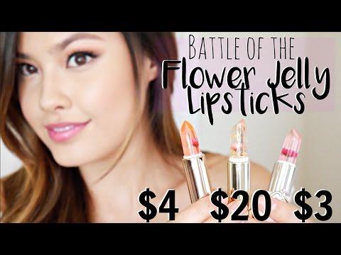 battle-of-the-flower-jelly-lipsticks-|-kailijumei-vs-$3-4-dupes!