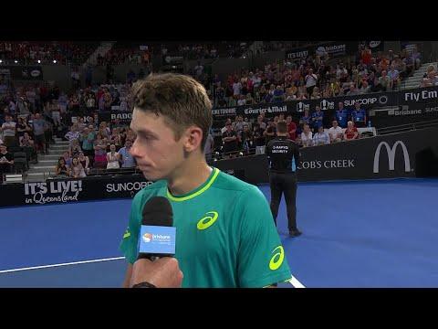 Alex de Minaur On-Court Interview (R2) | Brisbane International 2018