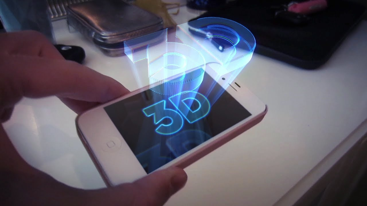 Make a 3d hologram using your android hd youtube for How to make mobile projector